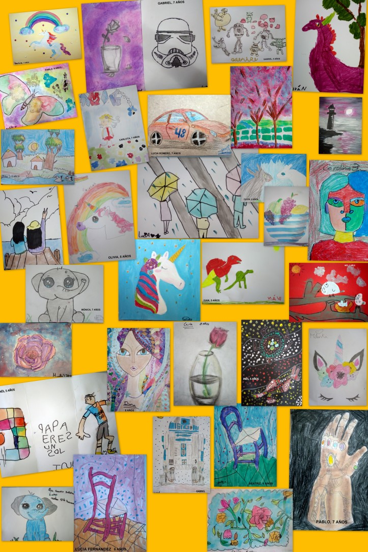 obras de arte de niños de 4 A 8 AÑOS
