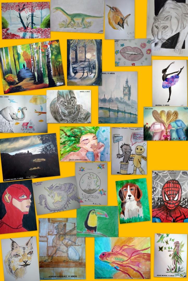 obras de arte de niños de 9 A 11 AÑOS