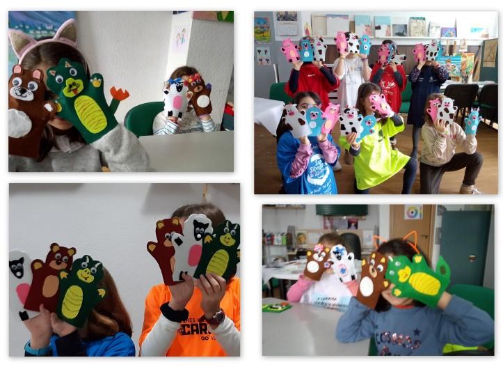 taller marionetas en el estudio de Cris