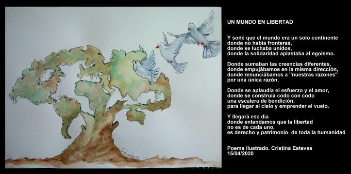Poesia e ilustración Un mundo en libertad Cristina estevas